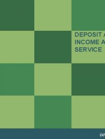 Deposit and Fixed Income Advisory Service Spring 2014