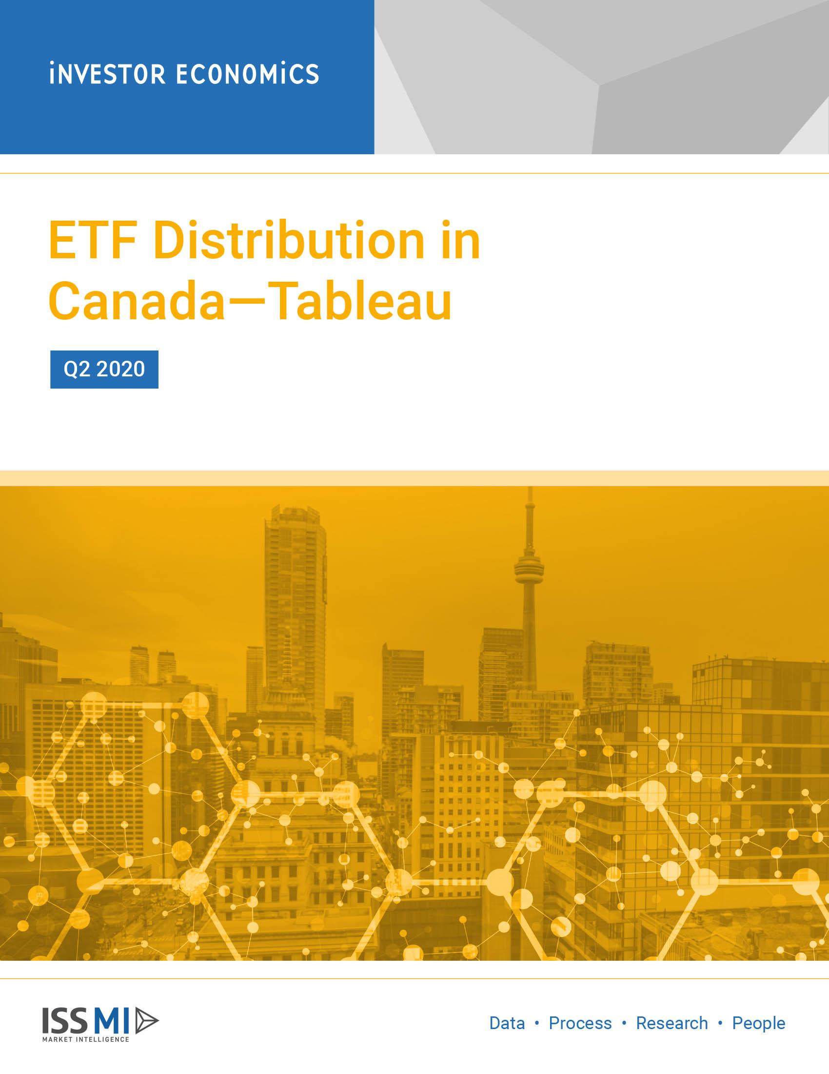 ETF Distribution in Canada—Tableau Q2 2020