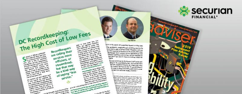 DC Recordkeeping:  The High Cost of Low Fees
