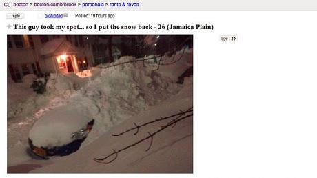 Boston man put snow back