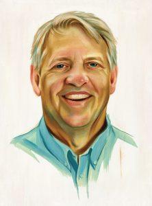 Portrait of Fred Caslavka by Chris Buzelli