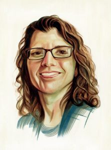 Portrait of Heather Masterson by Chris Buzelli
