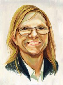 Portrait of Kerry Ryan by Chris Buzelli
